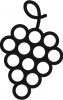 distiling process with grapes icon